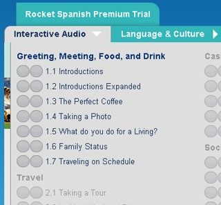 Rocket Spanish Interactive Audio