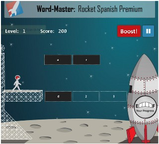 Rocket Spanish Wordmaster Game