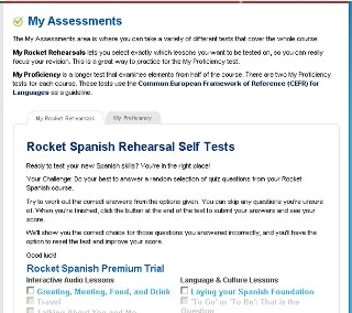 Rocket Spanish My Assessments