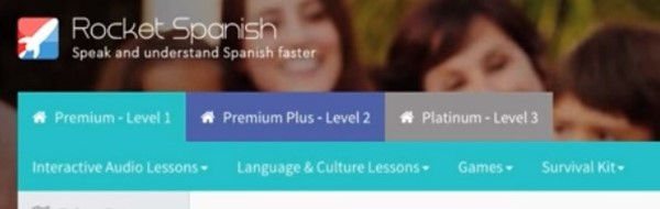 The Levels and Course Sections of Rocket Spanish