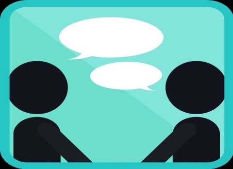 Icon Image of Two People Talking