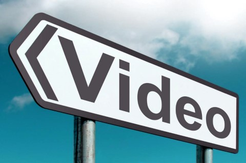 Signpost with Video and Arrow